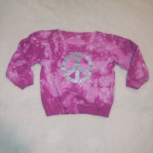 Other - Off-The-Shoulder Tie Dye Peace Sign Sweatshirt✌🏼
